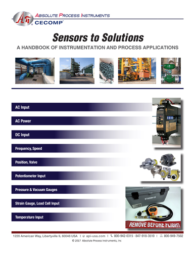 Sensors to Solutions