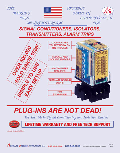API plug in signal conditioners